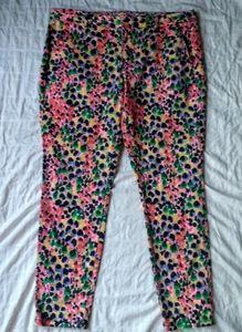 Khakis by Gap Skinny Mini Watercolor Design Pants
